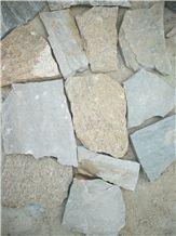 Fargo Multicolor Quartzite Irregular Flagstone, China Quartzite Random Shape Wall Cladding Pieces, Quartzite Flagstone Road/Walkway Paving