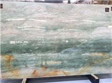 Blue Onyx Slabs, for Wall Background Decoraction