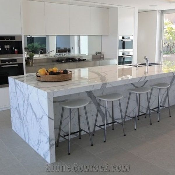 Calacatta Carrara White Marble Counter Top/Kitchen Tops