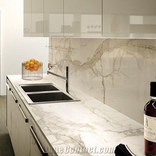 Calacatta Carrara White Marble Counter Top/Kitchen Tops