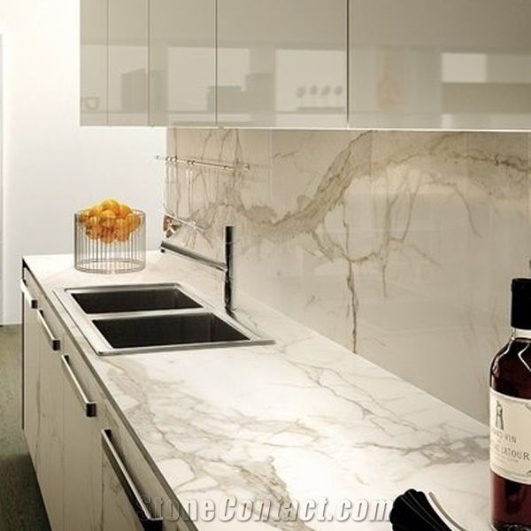 Calacatta Marble Countertops White Marble Countertops With