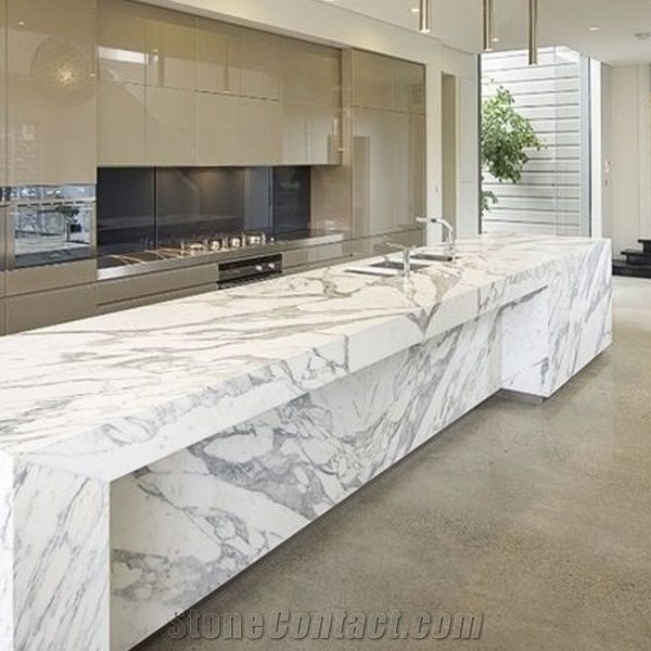 Calacatta White Quartz Stone Bench Topscalacatta White Quartz Stone