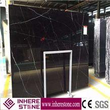 China Black Marquina Marble Slabs & Tiles,Nero Marquina Marble Slab
