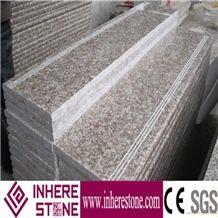 G687 Granite Steps & Risers, Stairs, Peach Red Steps, Imperial Pink Granite Slabs & Tiles