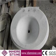 Han White Marble Bathroom Oval Sinks, Oval Basins, Vessel Sink, Natural Stone Wash Basins