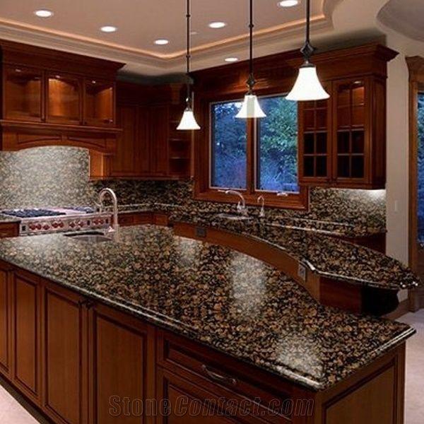 Hot Sale Baltic Brown Granite Kitchen Countertops, Kitchen ...