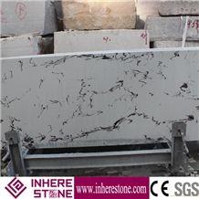 White Artificial Quartz Stone,Artificial Stone Slabs, Carrara White Veined Quartz Stone