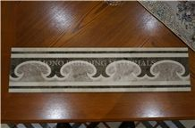 Chinese Marble Border, 150*600mm Stone Border Designs, Water Jet Marble Border Line