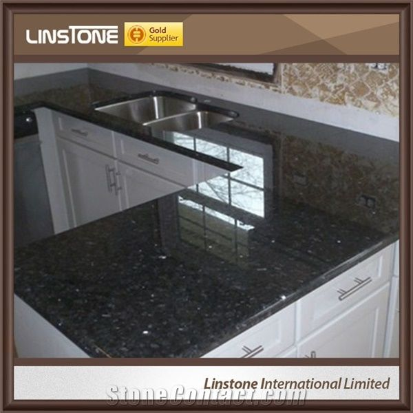 Black Man Made One Piece Granite Kitchen Countertops from ...