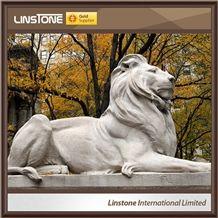 Large Life Size Antique Granite Lion Statue for Sale