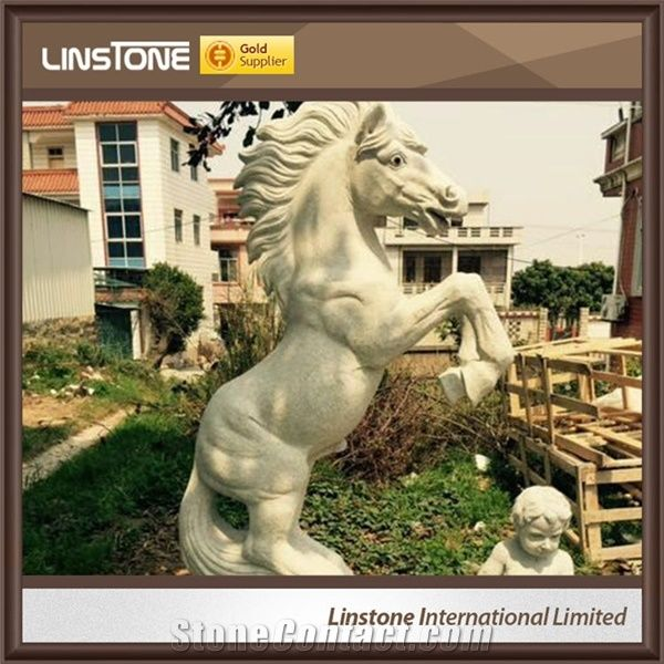Outdoor Marble Stone Horse Garden Statues Antique Horse Statue