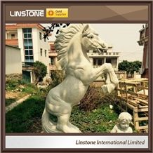 Outdoor Marble Stone Horse Garden Statues Antique Horse Statue