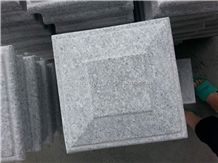 China Light Grey Granite Caps, Granite Pillar Caps With/Without Bottom Hole, Winggreen Stone
