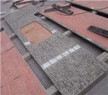 Giallo Santa Cecilia Granite Prefab Kitchen Countertop 96