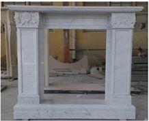 China Pure White Fireplace,China Hunan White Marble Fireplace, White Marble Carved Indoor Fireplace Mantel,Fire Hearth,Fireplace Surround, Fireplace Hearth, Handcarved Fireplace,Sculptured Fireplace