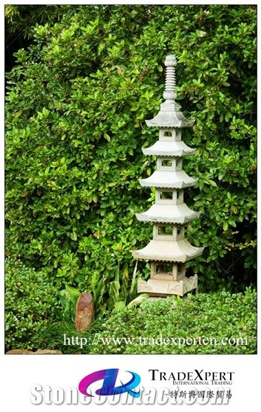 Antique Granite Garden Stone Pagoda For Outside From China