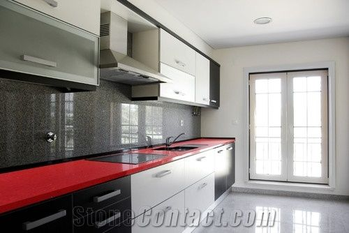 Red Quartz Stone Kitchen Countertops Red Quartz Stone