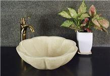 Beige Marble Polished Washbasin, Sink