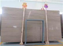 China Athens Grey Wood Vein Marble Polished Slab Tile