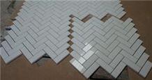 Crystal White Crema Marfil /Dark Emperador Light / Carrara White Mosaic