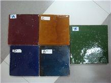 Handmade Terracotta Tiles Orange, Yellow, Red, Brown, Grey, Green, Black