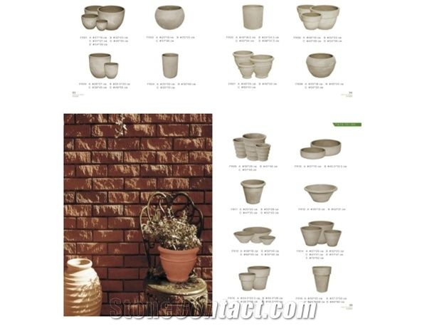 Terracotta Cement Flower Pots Plant Pots Planter Boxes Flower Vases