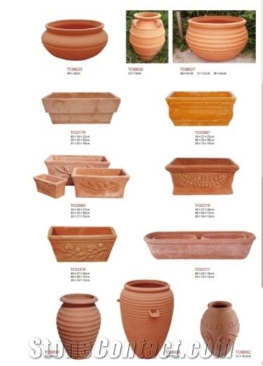 Terracotta Flower Pots Planter Boxes Flower Vases From China