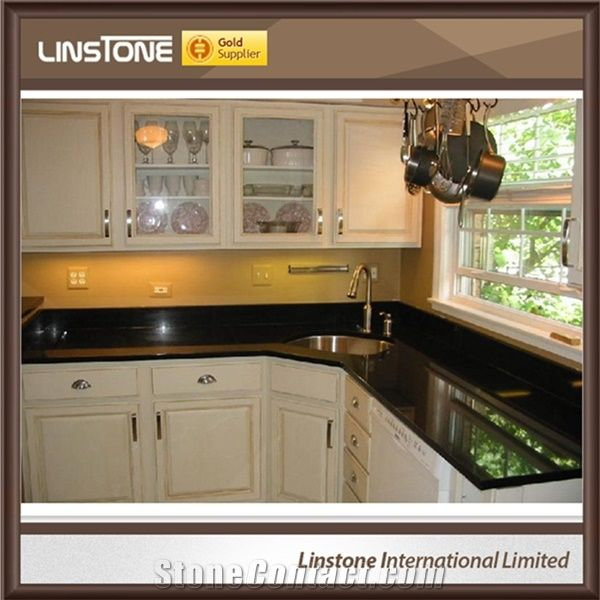 Absolute Black Granite Kitchen Countertops From China