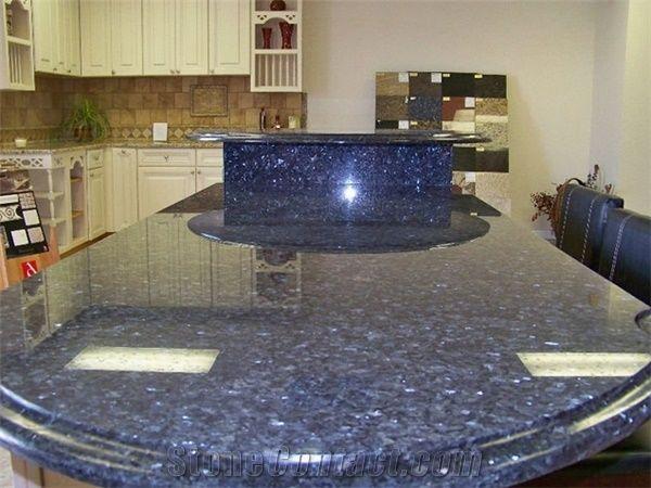 Erfly Blue Granite Kitchen Counter