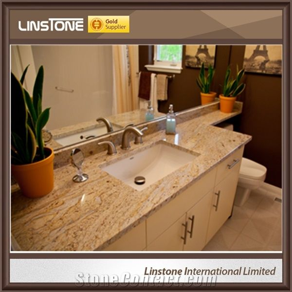 Cheap Price Colonial Cream Granite Vanity Top From China