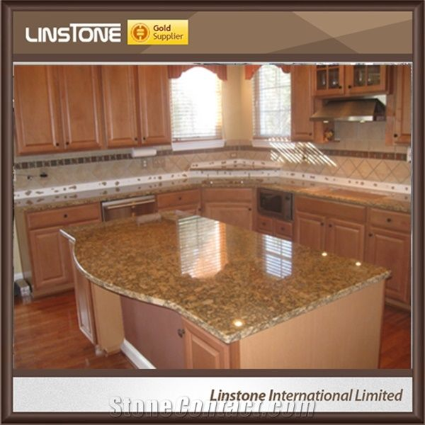 Cheap Price Polished Giallo Fiorito Granite Kitchen