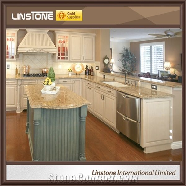 Cheap Price Polished Giallo Veneziano Granite Kitchen