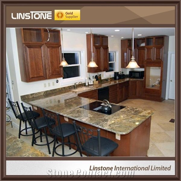Cheap Price Polished Netuno Bordeaux Granite Kitchen