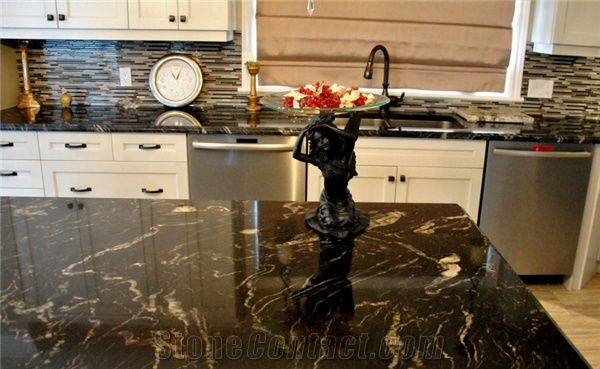 Galactic Storm Granite Kitchen Countertop From China