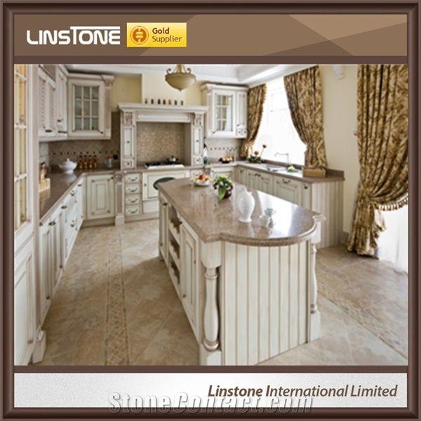 Polished Crema Caramel Granite Kitchen Countertop From