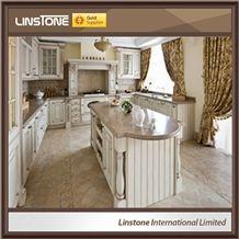 Polished Crema Caramel Granite Kitchen Countertop