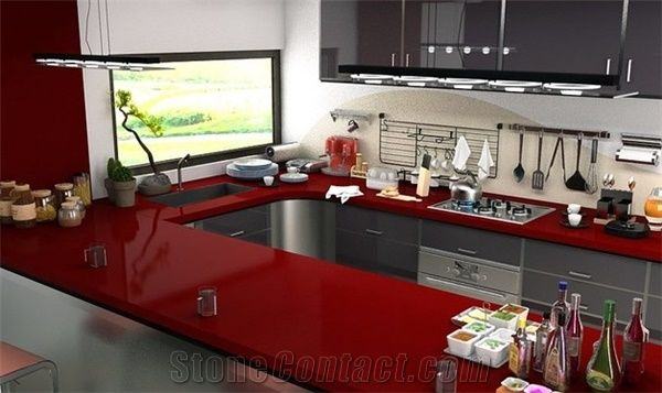 Ruby Red Granite Countertop Kitchen Countertop From China