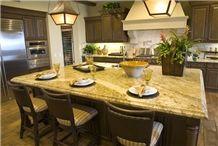 Tiger Skin Yellow Granite Kitchen Countertops