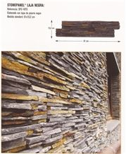 Laja Negra Wall Panel