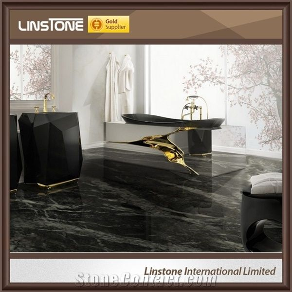Cheap Price Nero Marquina Marble Floor Tiles 60x60 From China