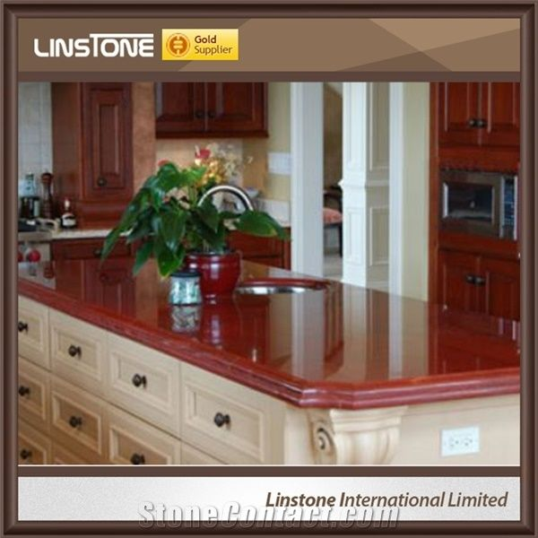 Custom Cheap Ruby Red Granite Kitchen Countertops From