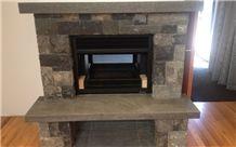 Wanaka Schist Stone Fireplace