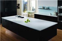 Silestone Bianco River Overall Quartz Stone Kitchen Countertop