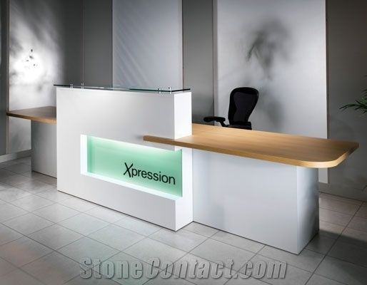 Tw Small Front Desk Reception Counter Half Round