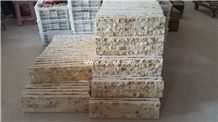 Golden Cream Marble Stone Mosaic Tile Culture Stone Light Cream Silvia, Cream Egypt,Golden Cream Isis,Egypt Beige Marble Split Face 25mm Width Cultured Stone Marble for Wall,Floor,Hotel,Restaurant