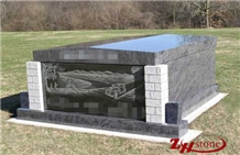 American Bahama Blue Granite Tradition Mausoleums