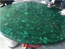 Green Malachite Round Table Top