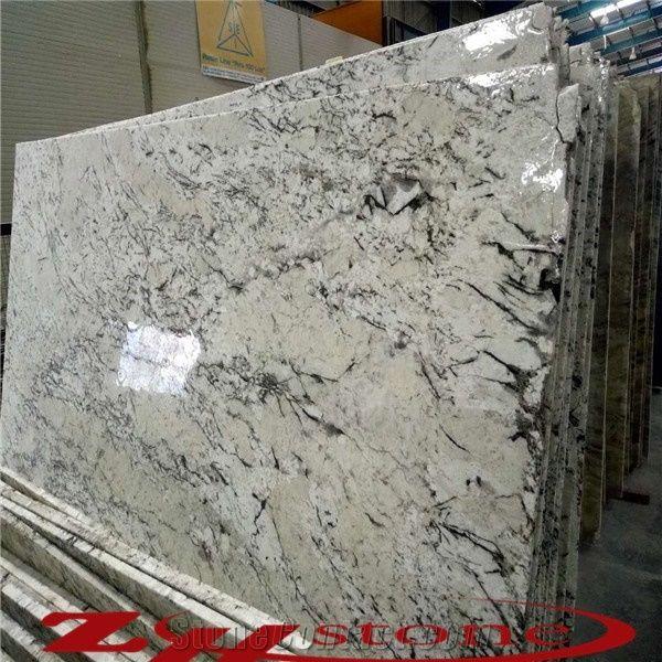 Hot Selling Polished Blanc Neige, Snow White Granite