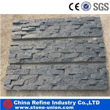 Natural Split Face Black Quartzite Cultured Stone for Wall Cladding ,Black Culture Stone/Ledge Panel,Wall Panel Covering,Rough Wall Panel Decoration Veneer