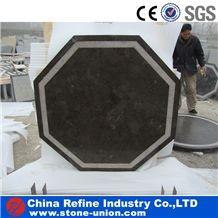 Polished Blue Limestone Table Top Round Table Tops,Coffee Table Top,Reception Counter, Work Tops,Reception Desk